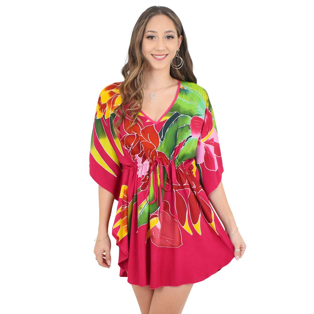 dc25244471439 ... and unique Kaftans feature batwing sleeves, v-neck, scalloped edges and  an adjustable drawstring tie for easy fitting. A perfect cover-up for the  beach, ...
