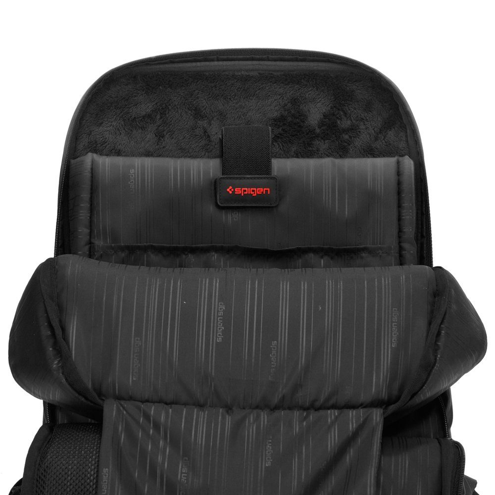 deded5632c Amazon.com  Spigen New Coated 2 Backpack with Water Resistant Coating and  15 inch Laptop Compatibility for All Laptops up to 15 inches - Black   Computers   ...