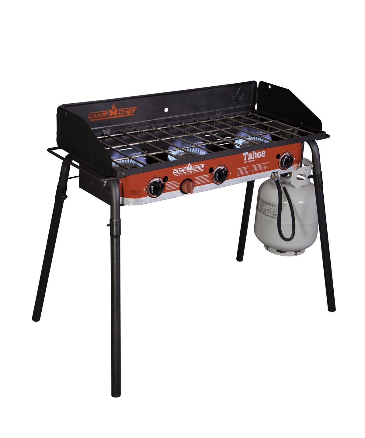 Amazon.com: Camp Chef Tahoe 3, estufa con quemador: Sports ...
