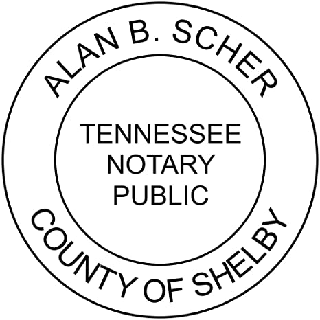 Amazon Tennessee Notary Stamp