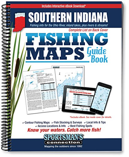 Southern Indiana Fishing Map Guide (Fishing Maps from Sportsman's Connection)