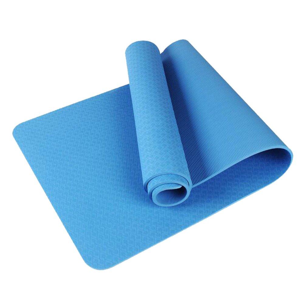 KIKIYA Stuoia di Yoga Mat Esercizio per Palestra Home Fitness E Campeggio 8Mm di Spessore,Blue