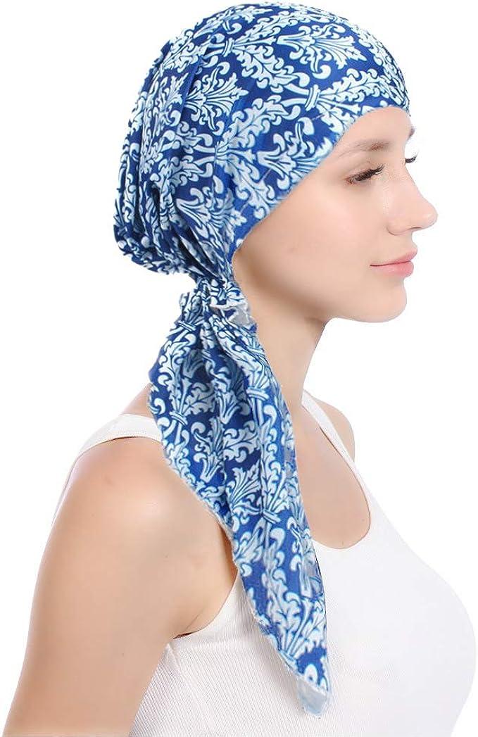 ZYCC Señora Bandana Head Pañuelo Sombrero Algodón Impreso Turbante Home Headwear Beanie Cap Sombrero de cáncer para la quimioterapia, la pérdida de cabello, la alopecia: Amazon.es: Ropa y accesorios