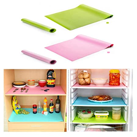 J Rong Refrigerator Pad, Shelf Liners Can Be Cut/Antifouling Mildew/Moisture Absorption Pad Multifunctional Vegetable Fruits Fresh Pad Fridge Pads Drawer Table Placemats(30x150cm) 2pcs by J Rong