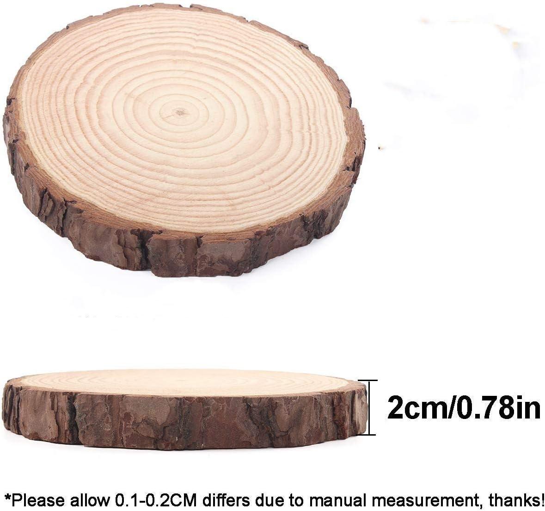 Rustic Wood Tree Slice with Bark 6-1//2-Inch