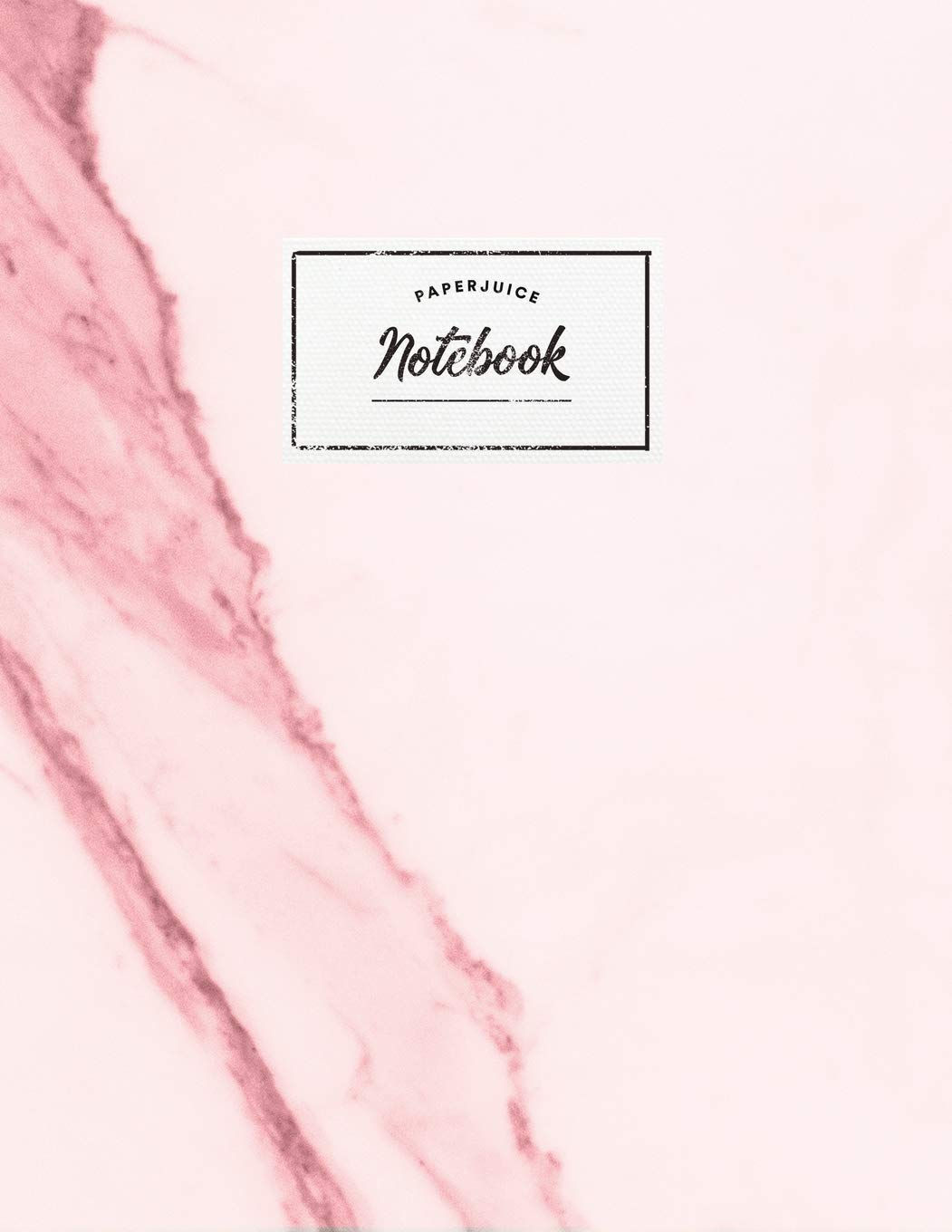 Notebook: Beautiful pink marble white label | ☆ School