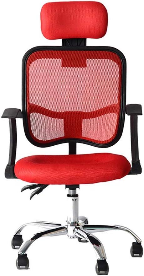 通気性 オフィスチェア 250ポンドコンフォートメッシュバックW /腰椎サポート完全に調整可能なヘッドレストアームレスト&キャスターパーフェクトオフィスチェアやホームオフィスチェア人間工学に基づいたオフィスチェア介してサポートします 家庭事務に必要な備品
