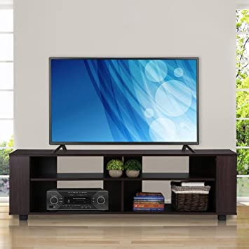 Topeakmart 58quot Modern Wood TV Stand Entertainment Center Media Console Cabinet Storage Cupboard For Flat