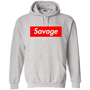 307e2dce2b01 Amazon.com  TShirtGuys Savage Red Box Logo Kids Hoodie  Clothing