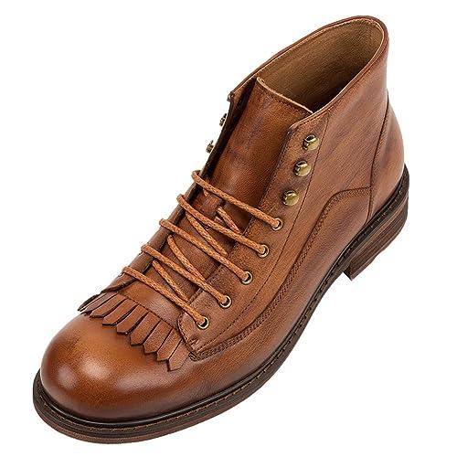 Mens Martin Boots Chukka Tassel Rivet Botines Casual Motos Zapatos Botas De Nieve Botas De Trabajo: Amazon.es: Zapatos y complementos
