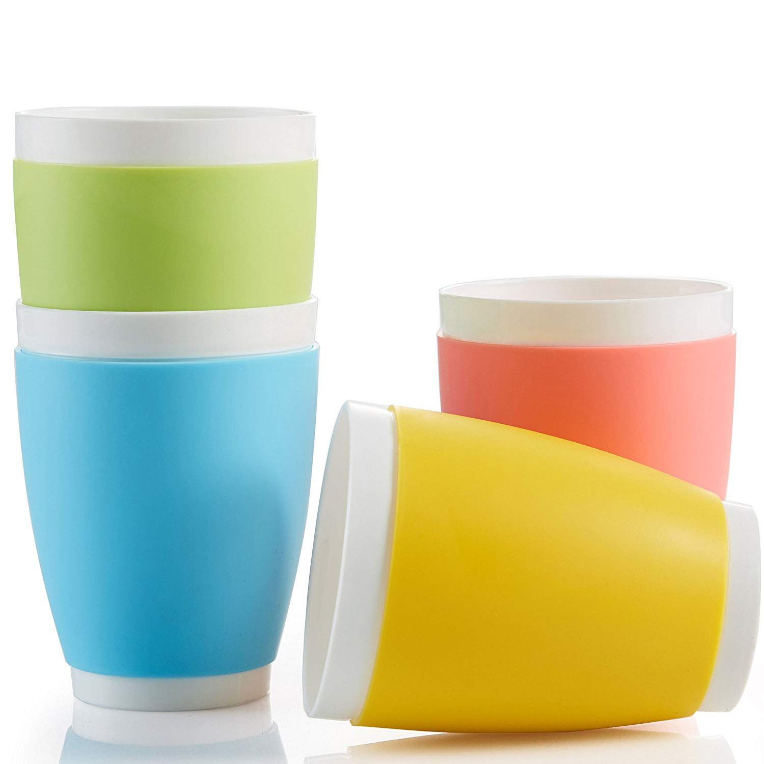 Toddler Cups, Kid's BPA-Free Tumbler Cup for Drinking, Microwave and Dishwasher Safe Tumblers, 4 Cups
