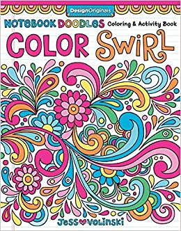 Notebook Doodles Color Swirl Coloring Activity Book Design Originals Jess Volinski 0023863055543 Amazon Books