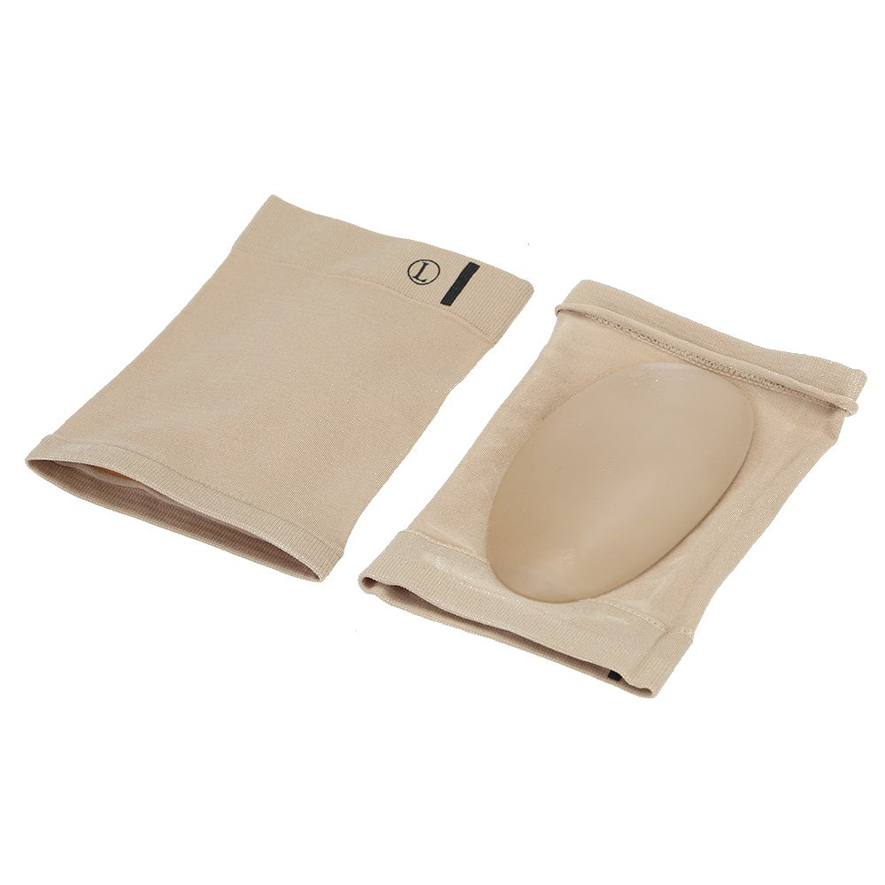 1 Pair Flat Feet Orthotic Plantar Fasciitis Arch Support Sleeve Cushion Pad (Beige)