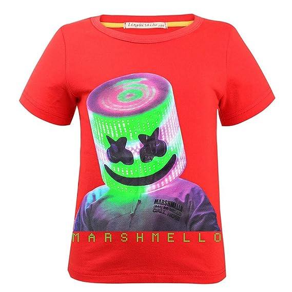 QYS Camiseta para niños Camiseta de Manga Corta Algodón Tops ...