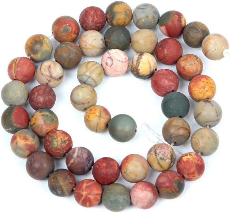 DIY beaded natural stone frosted mixed colorful charm round loose beads to make beads for needlework bracelet DIY chain-1/_4mm/_about/_92Pcs