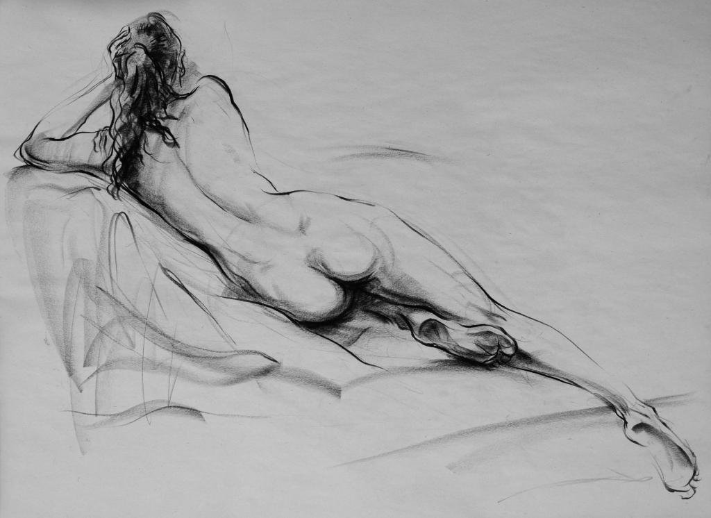 Life Drawing, Female 1 by