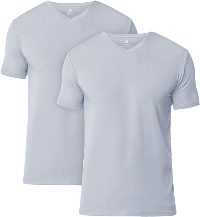 LAPASA Pack de 2 Camisetas de Hombres Manga Corta de Austria Lenzing Micromodal® (Origen Natural) Camiseta Interior M07/M08: Amazon.es: Ropa y accesorios