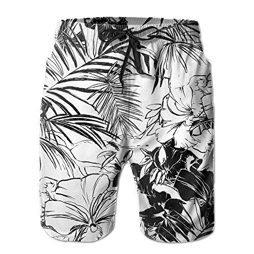 Beach Break Boardshort (2017 Newest Men's Hidden Break Flowers Quick Dry Beach Board Shorts)