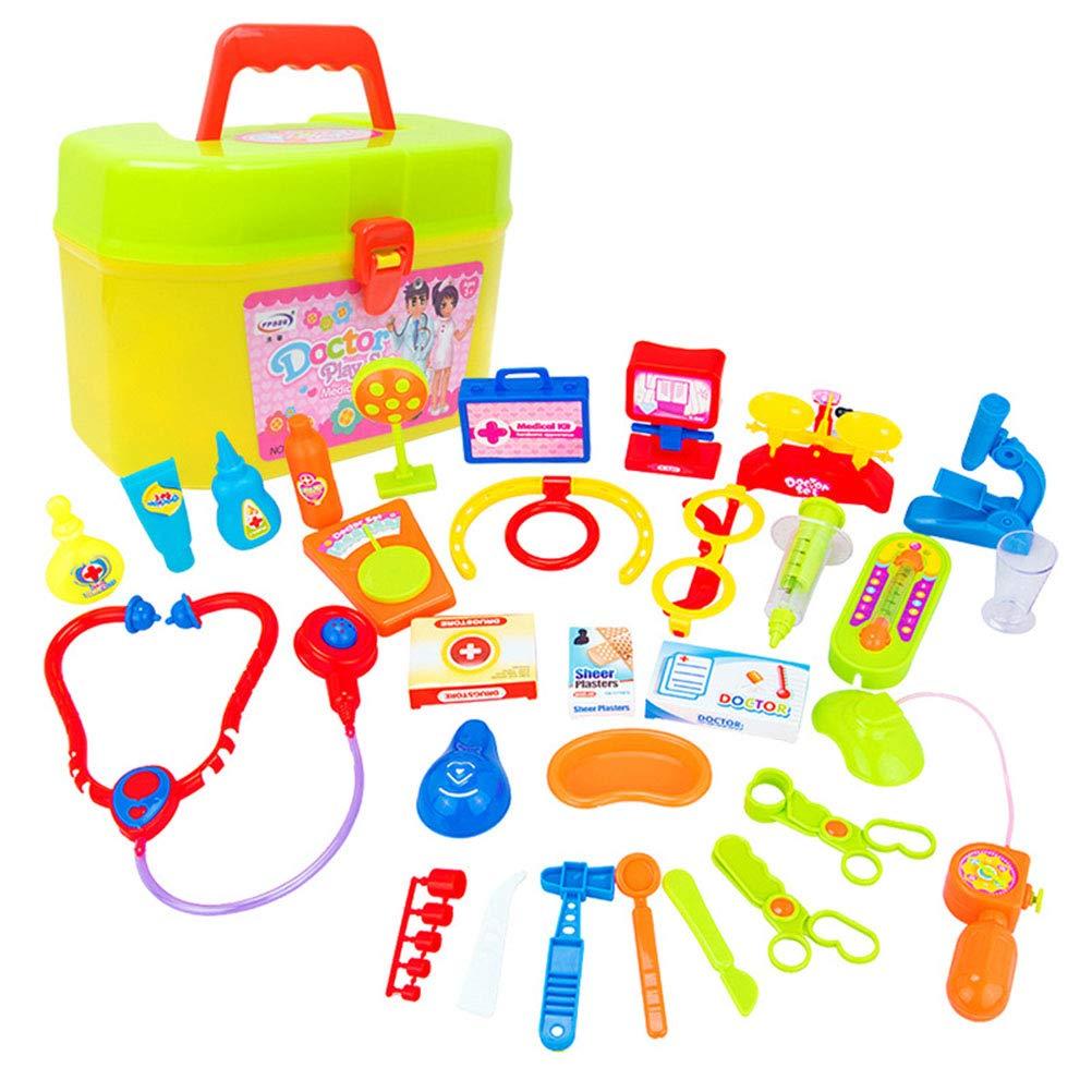 STOBOK 30pcs Docteur kit Jouet Jouet éducatif mis Jouet créatif pour bébé Nouveau-né (Couleur aléatoire 29 dispositifs médicaux, 1 boîte de Stockage)