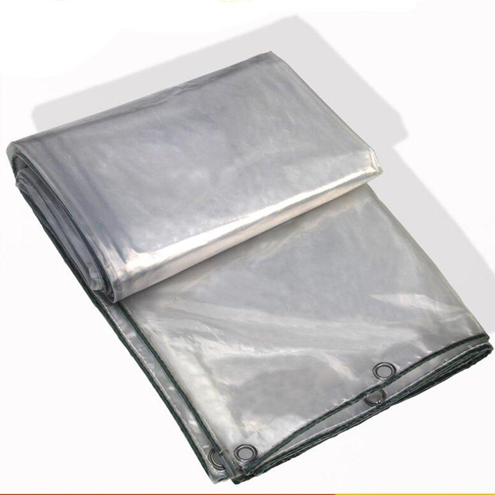 YANGFEI 防水シート PVCフィルム透明なターポリン95%透明度タフヘビーデューティターポリンクロスラミネート、透明、アイレット/UV安定性-0.4mm 220g/m2 耐久性に優れています B07FC3TVQB 2×6m|トランスペアレント トランスペアレント 2×6m