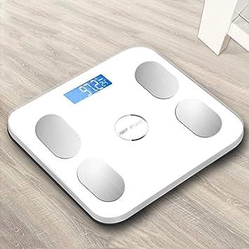 JXXDQ Balanza del Peso de Las básculas de baño del Cuerpo de Digitaces de la Alta precisión con la tecnología de Paso, exhibición de la retroiluminación, ...