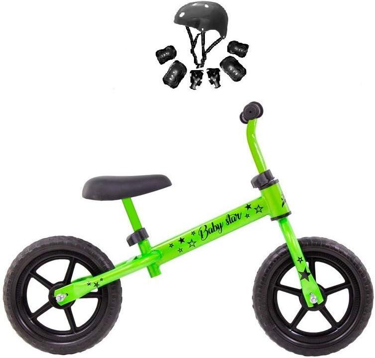 Grupo K-2 Riscko Bicicleta sin Pedales con sillín Regulable   Correpasillos Minibike   Bicicleta para Niños Baby Star