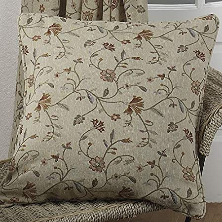 Elegance Mansfield Natural Piped 17in 43x43cm Cushion Cover Amazon Co Uk Kitchen Home