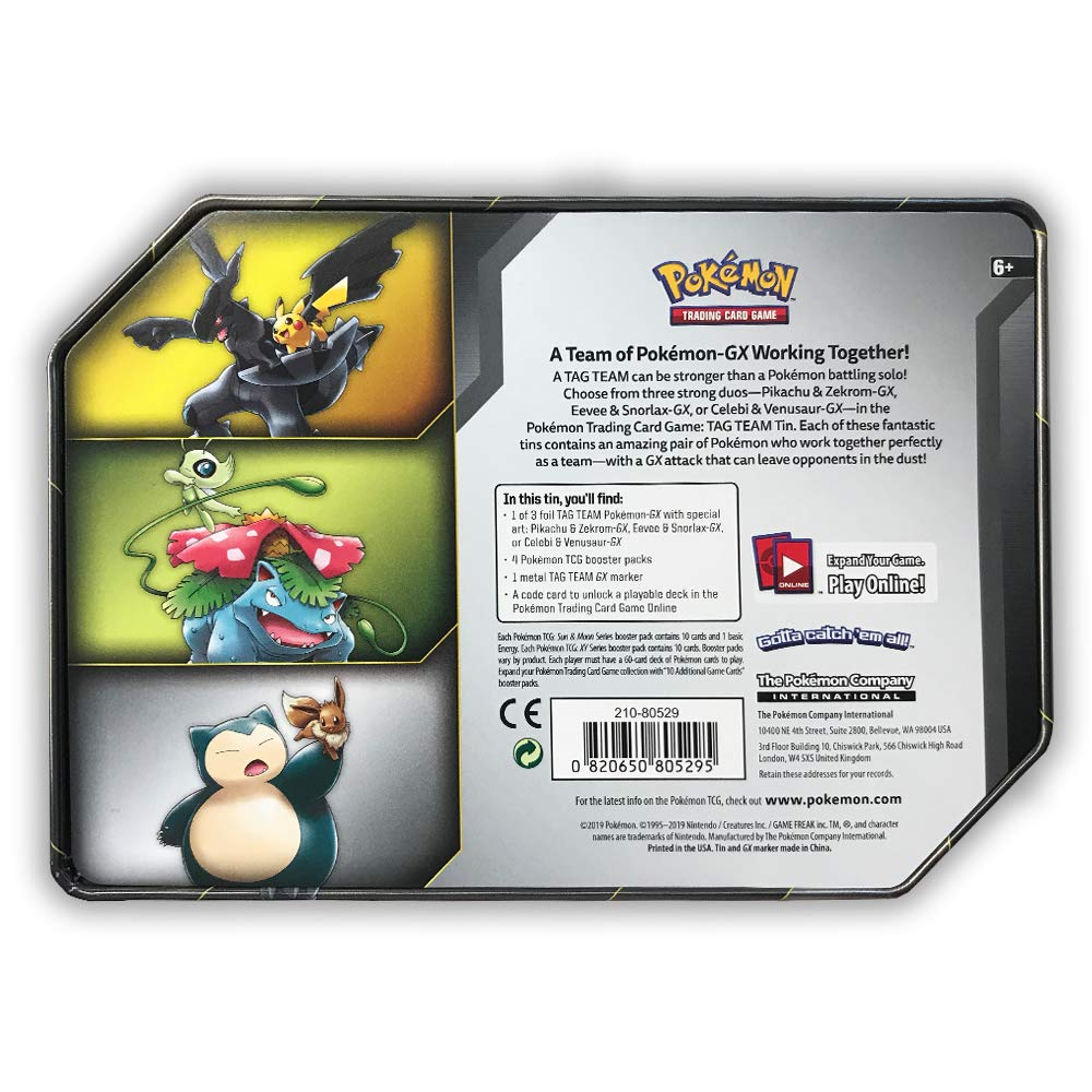 Pokemon TCG: Sun & Moon Team Up Collector's Tin Containing 4 Booster Packs and Featuring A Foil Pikachu & Zekrom GX Card by Pokemon (Image #2)