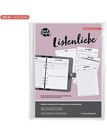 Fenteer 96 Blatt Notizpapier liniert A6 Nachf/üllung Einlage Ersatz f/ür Notizb/ücher Organizer Ringb/ücher Terminplaner Tagebuch