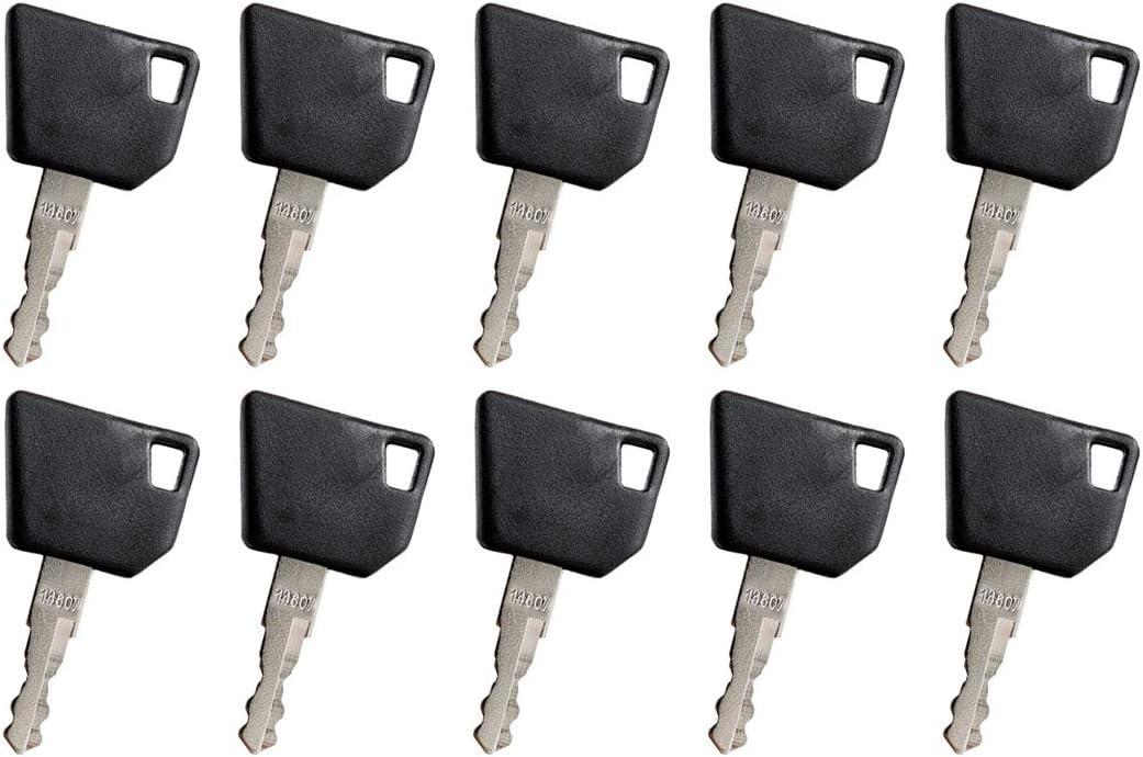 Disen parts 333/Y1374 Ignition Key 14607 For JCB Backhoe Loader 3CX 4CX 5CX Bomag Caterpillar Excavator 213/214 Dynapac Hamm Hang Moxy New Holland Midi CX Compactors DYN451 Telehandlers OMN807 JCB