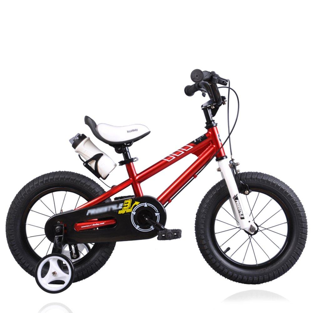 HAIZHEN マウンテンバイク 子供用自転車 ブルーグリーンオレンジレッドピンク サイズ12インチ、14インチ、16インチ、18インチ アウトドアアウト 新生児 B07C6WM3RW 12 inch|赤 赤 12 inch