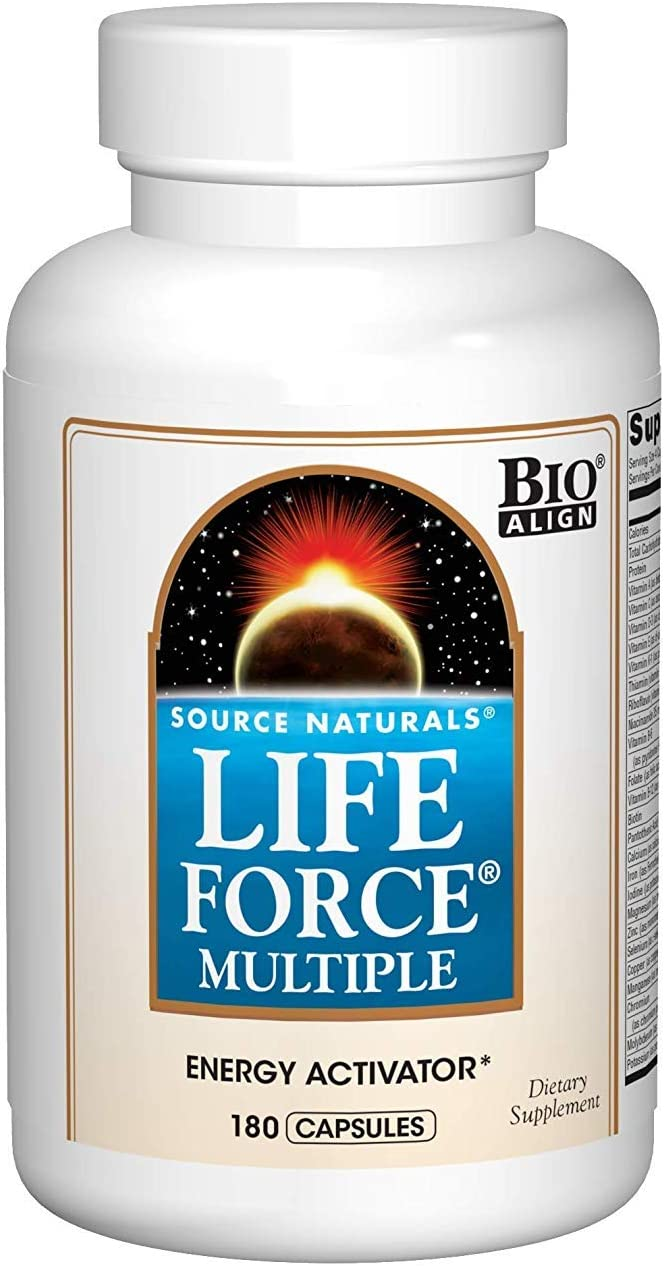 Source Naturals Life Force Multiple Daily Multivitamin High Potency Essential Vitamins, Minerals, Antioxidants Nutrients – Energy Immune Boost – 180 Capsules