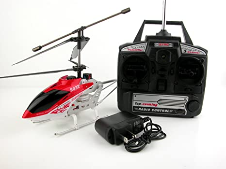 amazon com 3 5 ch metal indoor rc helicopter s032g toys games rh amazon com