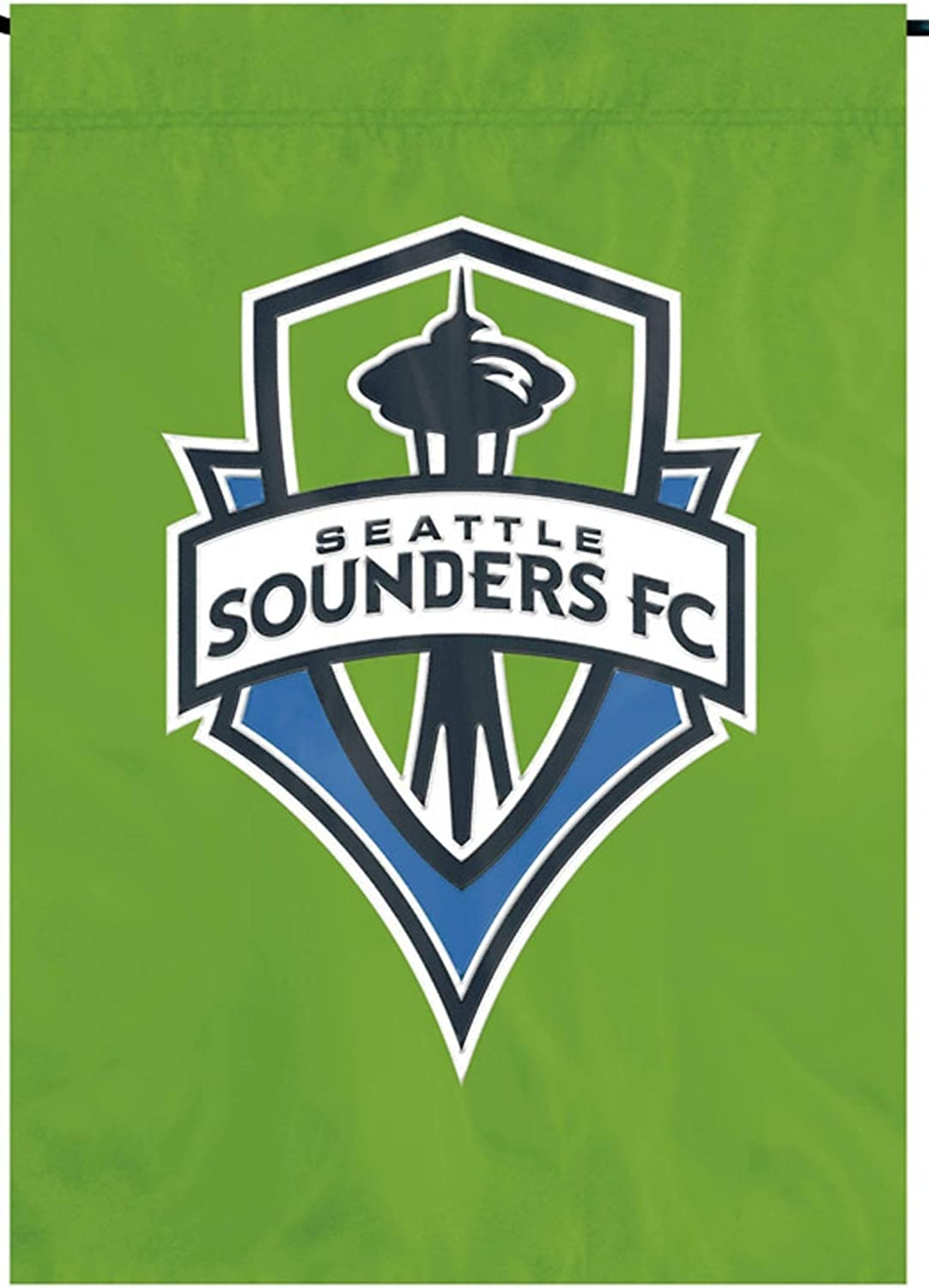 Seattle Sounders FC Premium Garden Flag Applique & Embroidered Banner Soccer MLS