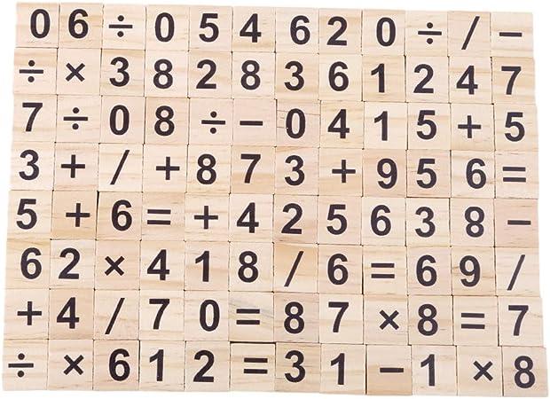 WEILYDF 100 Piezas Rompecabezas de Madera Simple Seguro Letras número Scrabble de Madera para niños Juguetes educativos Bloques de Madera, Madera, Number, As Description: Amazon.es: Hogar