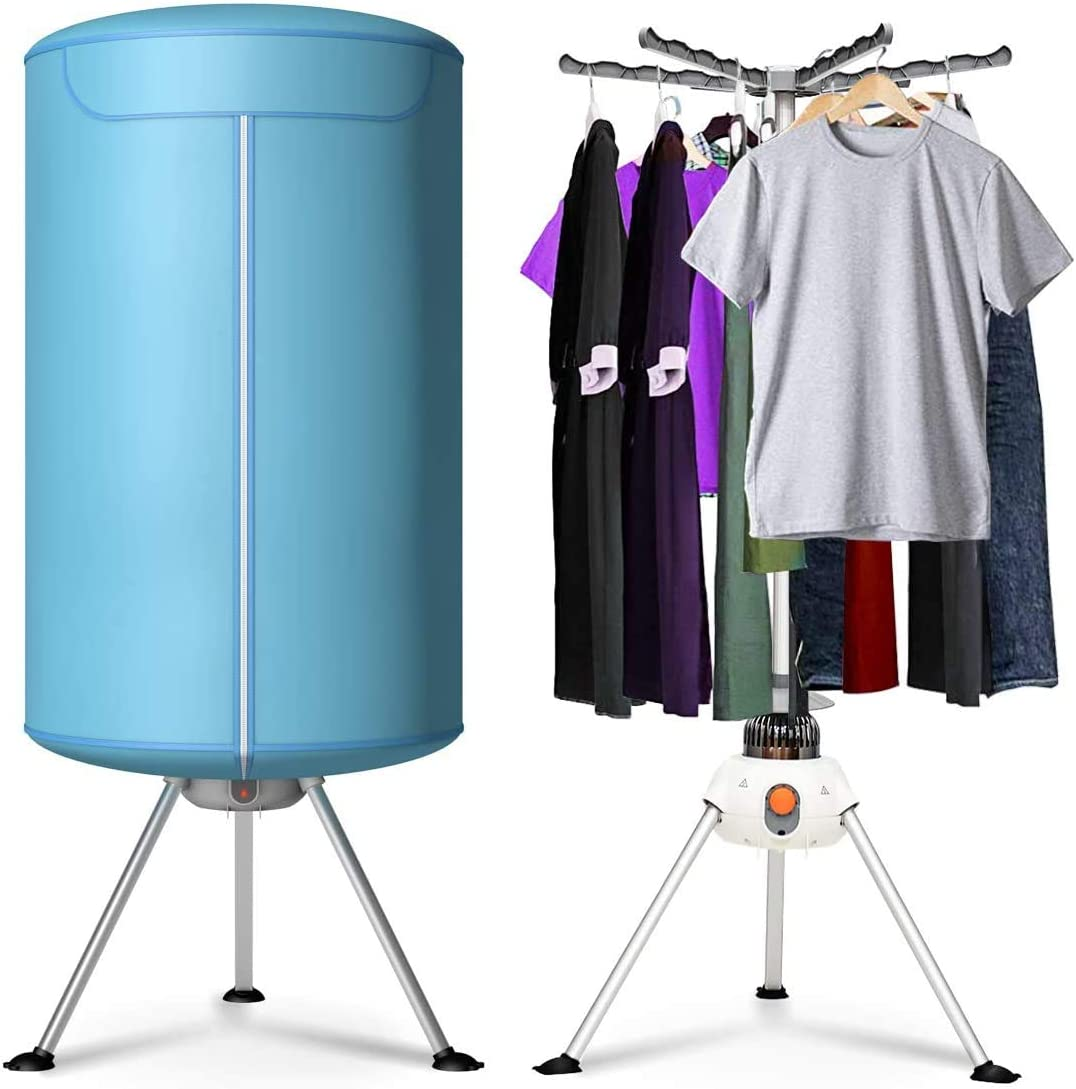 COSTWAY Portable Clothes Dryer, Ventless Laundry Dryer, Hot Drying Machine with Heater for Home & Dorms