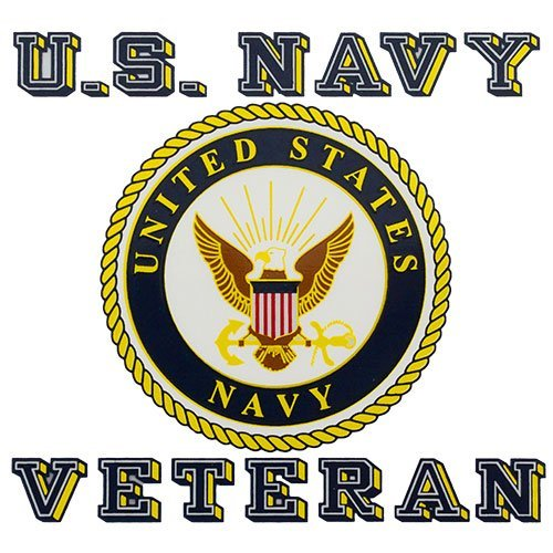 Navy Seals Decal - Navy Veteran with Seal 3.5