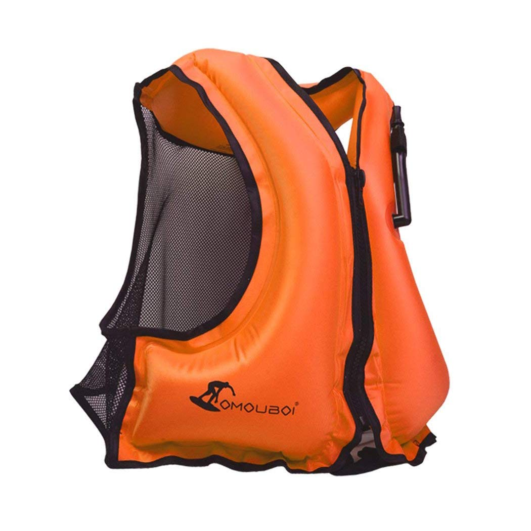 OMOUBOI Adult Inflatable Swim Vest Life Jacket For Snorkeling by OMOUBOI