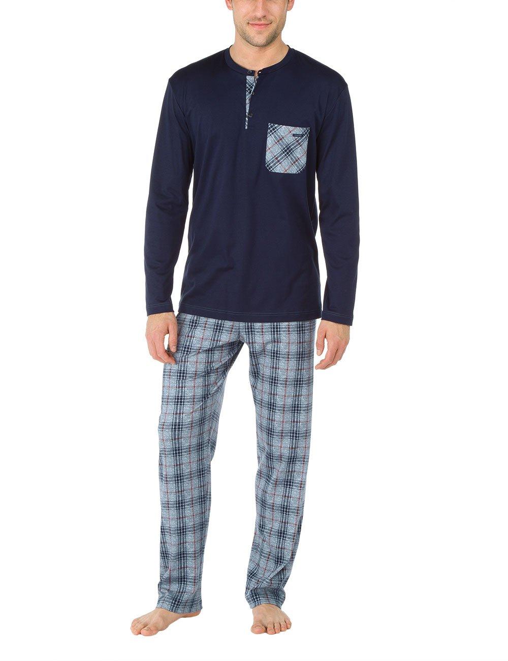 CALIDA mens 100% cotton knit pajamas set notting hill 46466/376 (medium) by Calida (Image #1)
