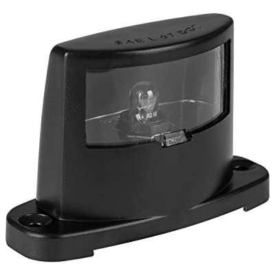 Lumitronics License Plate Lamp - ABS Body Construction (Black): Automotive