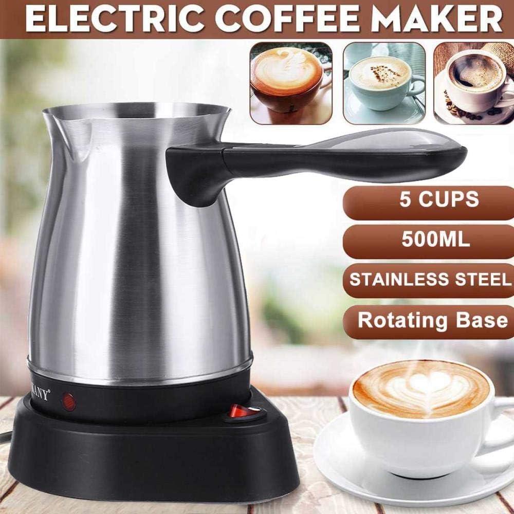 DEXUAN Machine /à caf/é /électrique en Acier Inoxydable Portable Grecque Turque cafeti/ère Pot /électrique Moka Pot Bureau /à Domicile Bouilloire /à caf/é