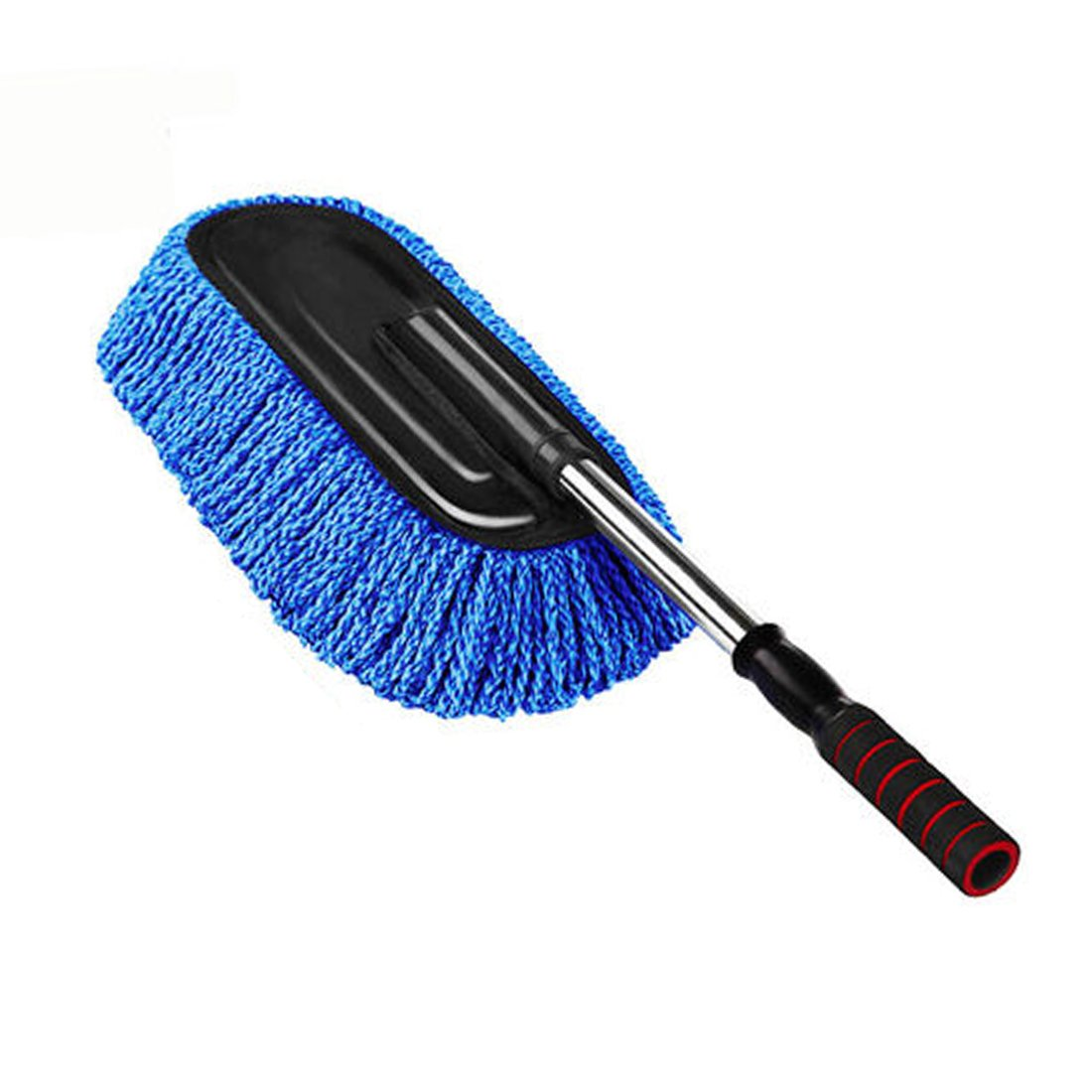 Car Duster, PeleusTech Microfiber Telescoping Wax Mop Car Dust Duster Vehicle Home Wash Cleaning Tool - Blue