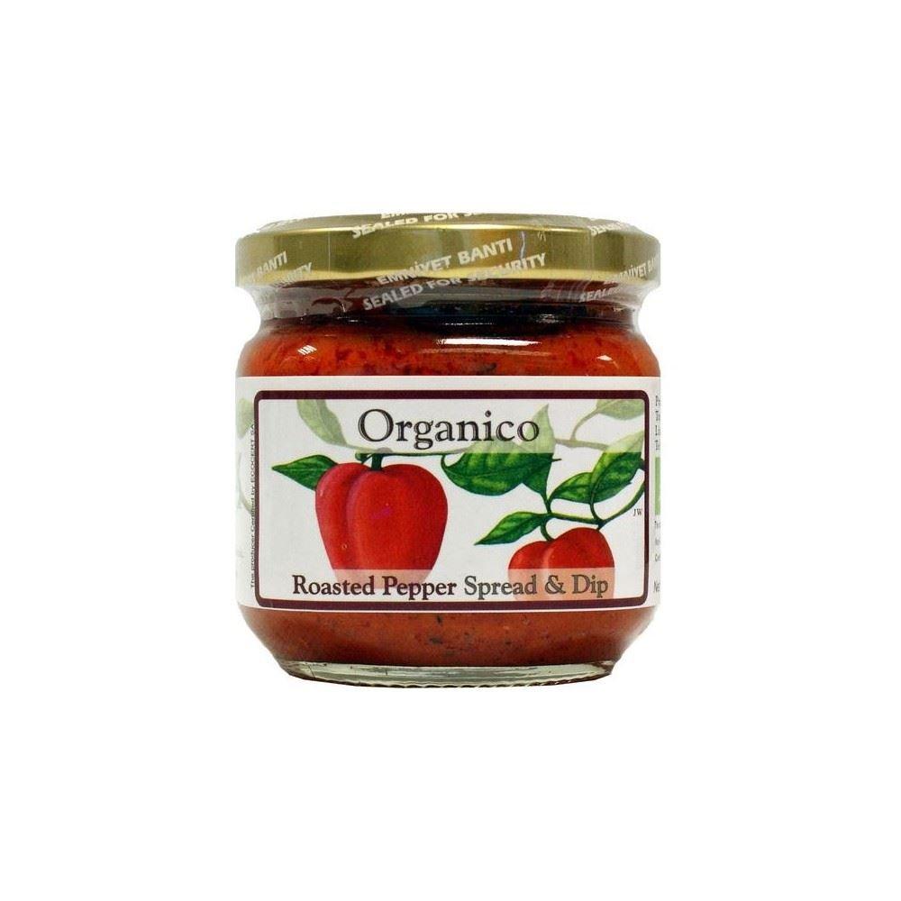 Organico Roasted Pepper Spread & Dip (195g) - Pack of 6 by Organico