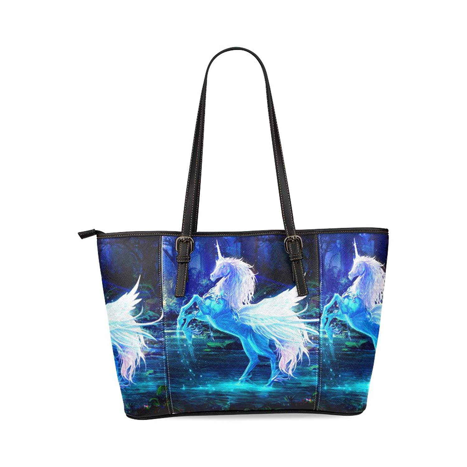 Unicorn Custom Women's PU Leather Large Tote Bag/Handbag/Shoulder Bag