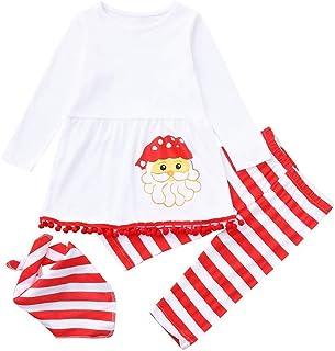 Yter Boy Abbigliamento Natale Bambini Ragazze Abbigliamento Set Vestito Ragazze Ragazze Abbigliamento Vestito Camicetta A Righe Lunghi Vestiti Set Ragazza Vestiti