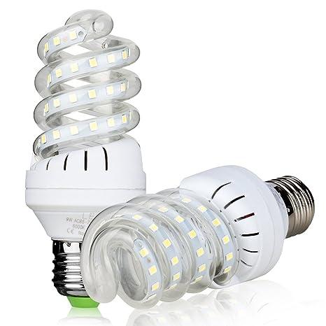 Bombillas LED, No regulable 9W (equivalente a 90watt), 6000 K (luz blanca) bombillas de luz de ...