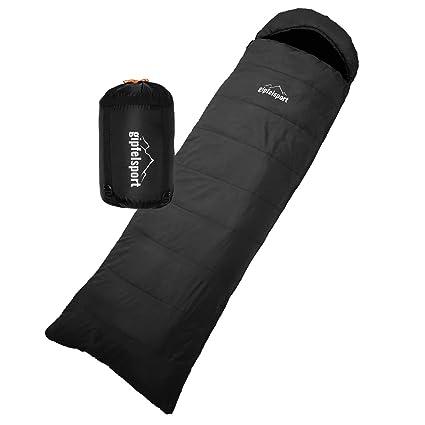 gipfelsport Sacos de Dormir rectangulares Negro