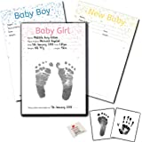 Baby Handprint and Footprint Inkless Print Kit with Wipe /& Certificate Baby Girl//Baby Boy//New Baby New Baby inc Two Sheets of Special Paper for Extra Prints