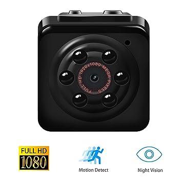 【Versión de actualización】 Mini Cam Surveillance Cámara, Vaxiuja mini Cam espía HD 12MP 1080P Full HD Cámara de Movimiento con Detección de Movimiento y ...