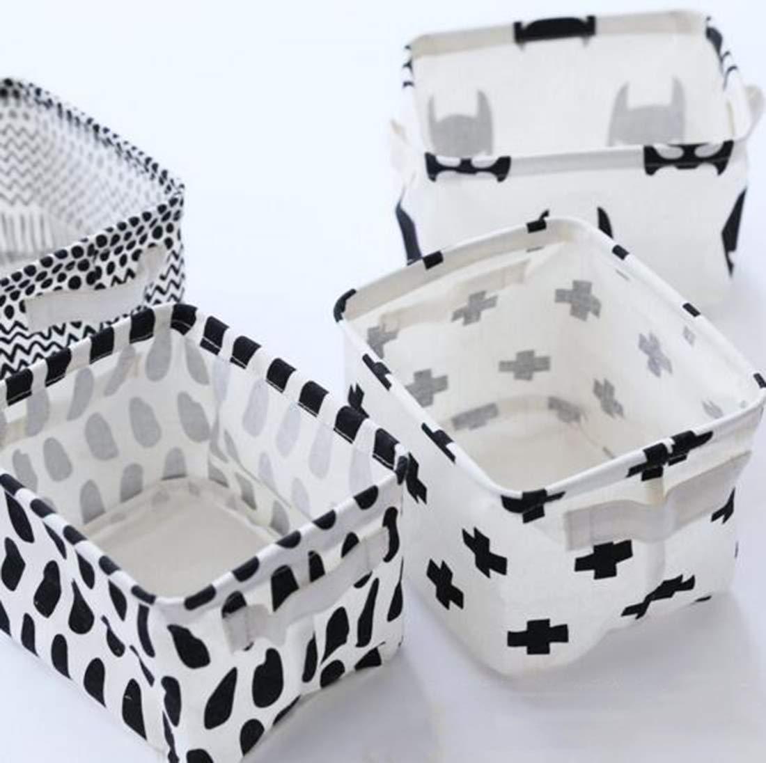 Storage Bins Foldable Rainbow Storage Basket for Nursery Makeup Desktop Organization Small Items Kids Toys Animal Set of 4